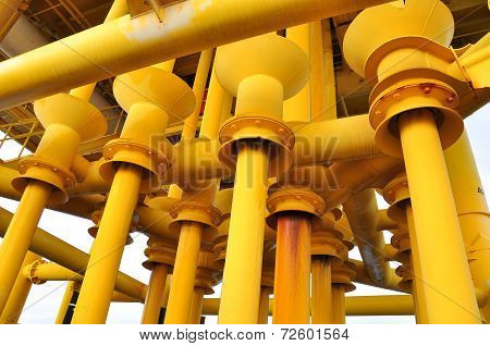 Production pipe line from well head platform to Production plant.