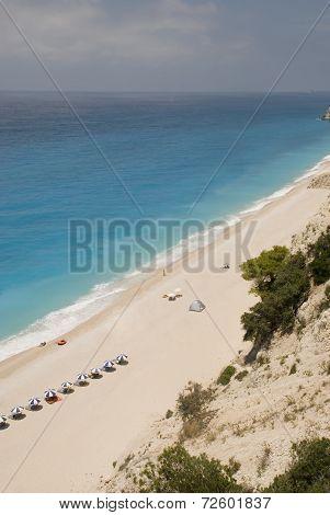Blue waters beautiful beach