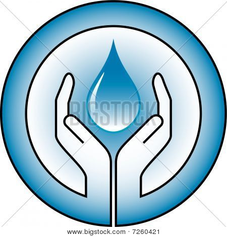 waterdrop and hands
