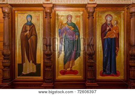 Fragment Of The Iconostasis In The Church Of The Holy Prophet John The Baptist