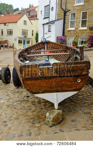 Old wooden boat, Robin Hood's Bay