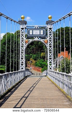River Dee Suspension Bridge, Chester.