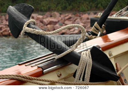 Ship's Anchor On Deck