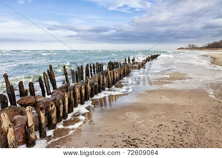 Groyne On Shore