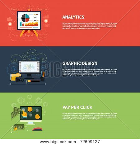 Icons For Web Design Analytics Graphic Design And Pay Per Click