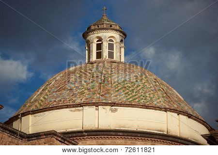 Dome of the Iglesia de la Compania in Cusco