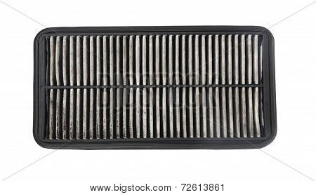 Used Air Filter, Auto Spare Part Isolated On White