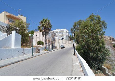 Street In Modern Part Of Kefalos