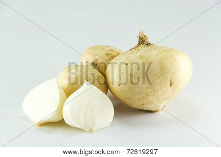 Yam Bean On White Background