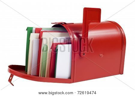 Christmas Cards Filling Mailbox