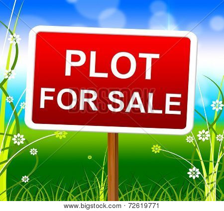Plot For Sale Represents Real Estate Agent And Lands
