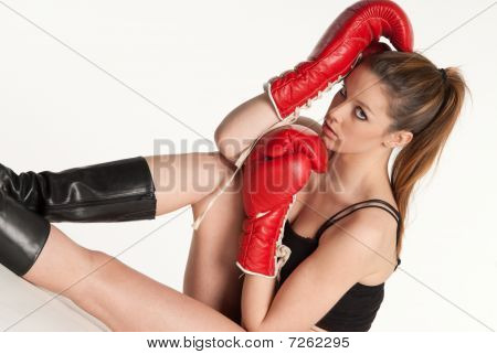 Young Female Boxer