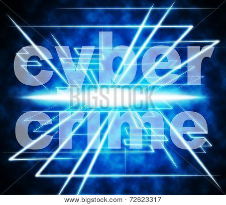 Cyber Crime Indicates World Wide Web And Felony