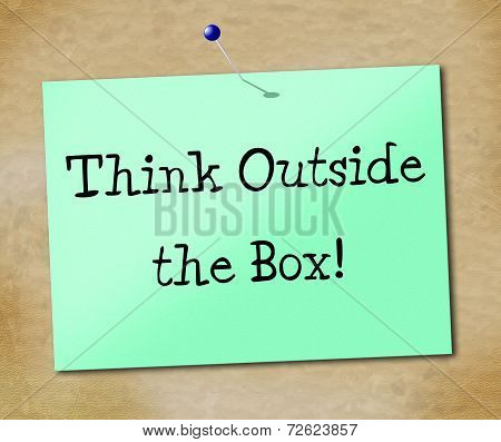 Think Outside Box Represents Change Differently And Ideas