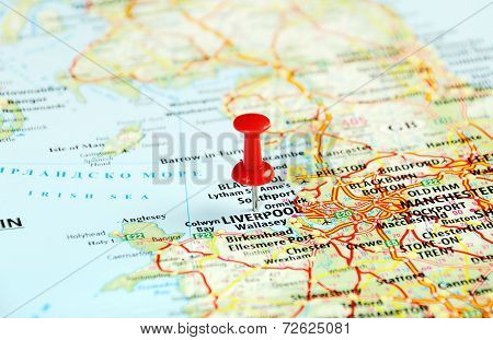 Liverpool Uk  Map Pin