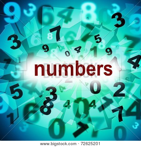 Mathematics Counting Shows One Two Three And Learn