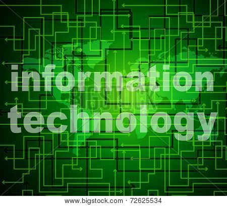 Information Technology Shows Assistance Data And High-tech