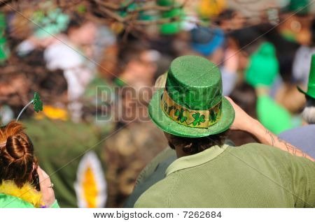 St Patricks Day Parade Goers