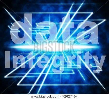 Data Integrity Represents Uprightness Sincerity And Virtuous