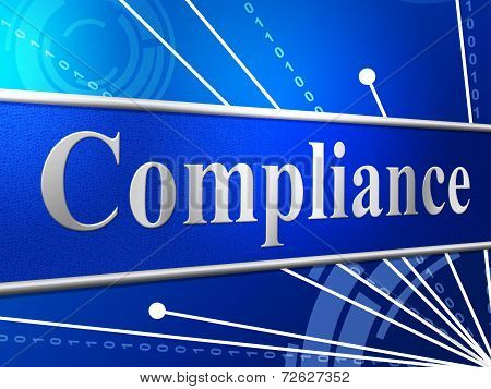 poster of Compliance Agreement Shows Complied Guidelines And Process