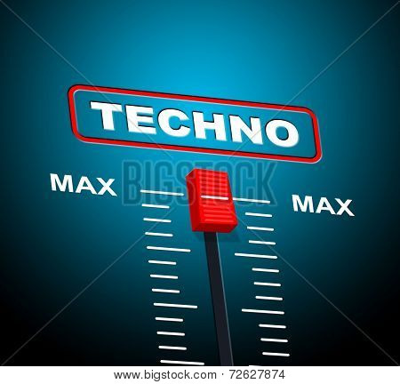 Techno Music Indicates Sound Track And Celebration