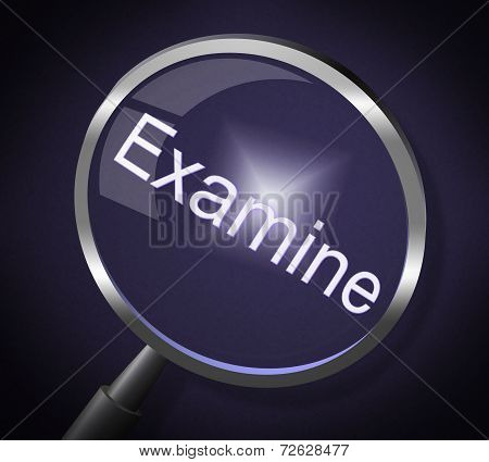 Examine Magnifier Represents Check Up And Magnify