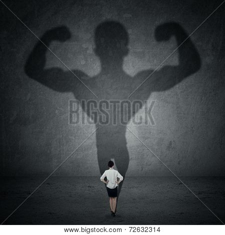 Businesswoman And Strong Shadow 3