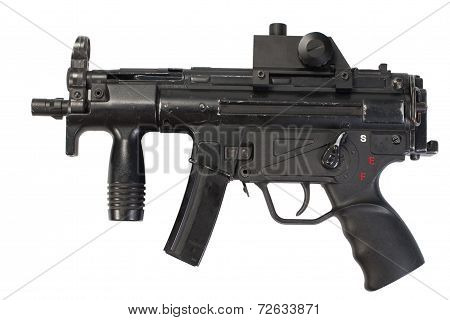 german submachine gun isolated on white background