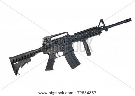 Us Army M4A1 Carbine Isolated On A White Background