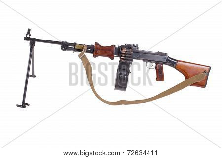 Soviet Machinegun Rpd-44 Isolated
