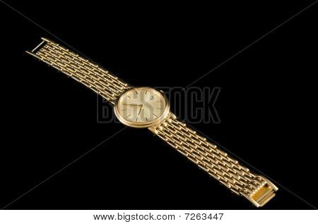 Luxury gold wrist watch