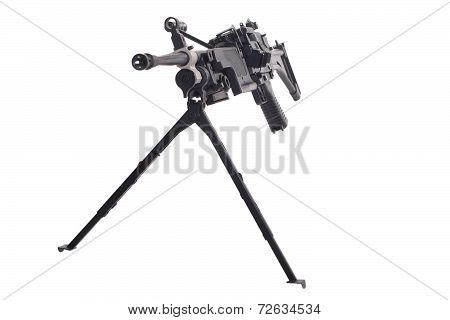 Machine Gun Isolated On White