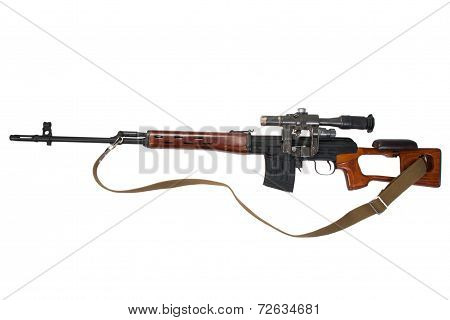 Soviet Army Dragunov Sniper Rifle With Optic Sight