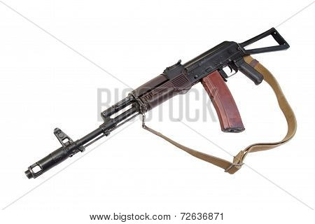 Kalashnikov Ak74 Isolated On A White Background