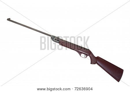Retro Pneumatic Air Rifle Isolated On White Background