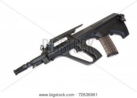 Steyer Aug Assault Rifle Isolated
