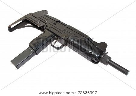 9Mm Submachine Gun Isolated On White