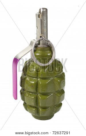 Pineapple Hand Grenade Isolated On A White Background