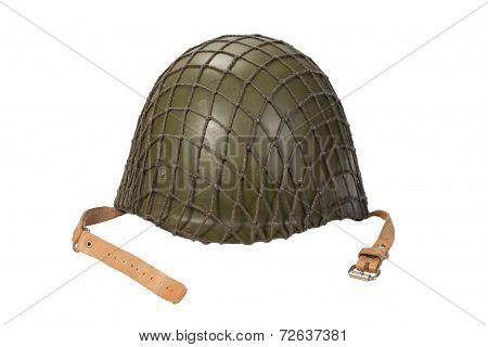 Soviet Army Mechanized Infantry Helmet Isolated On White