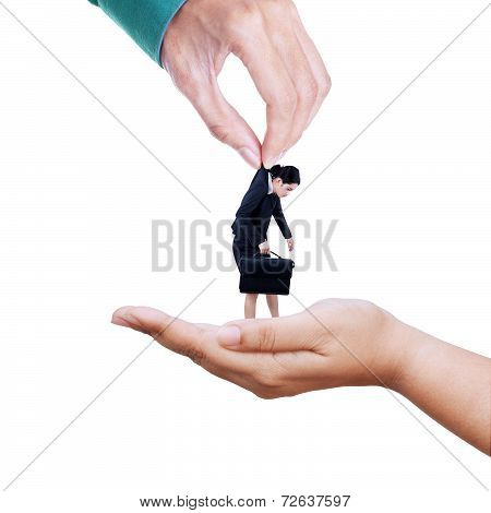 Two Hands Transfering Employee