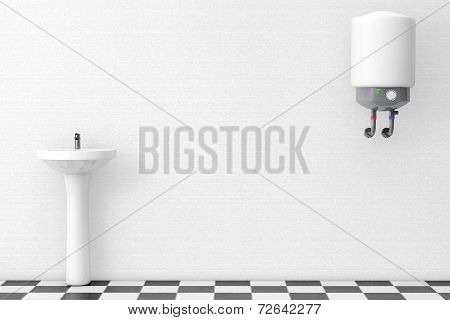 Washbasin With Water Heater