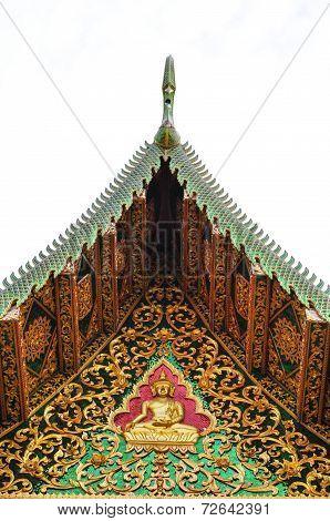 Thai ancient fine art gable
