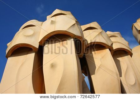 Chimneys On Casa Mila (detail)