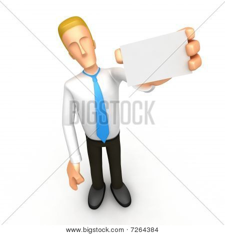 Manager With Blank Business Card