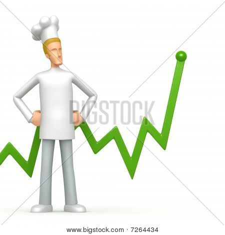 Chef With Green Diagram