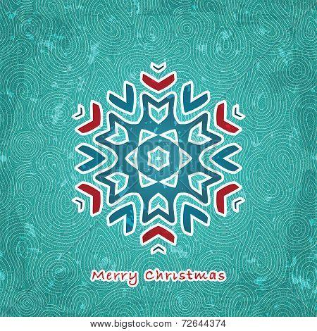 Christmas flake background