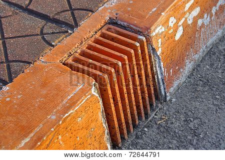 The close view of drainage holes