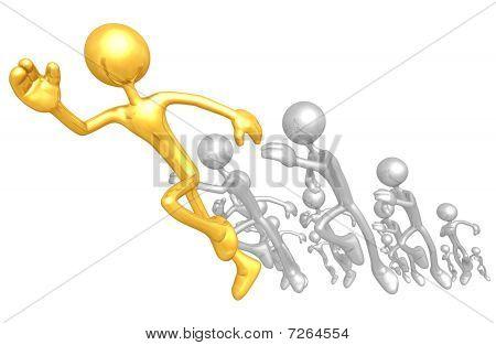 Gold Guys Running