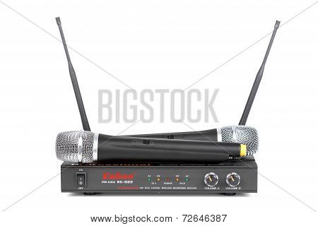 Set Of Wireless Microphone System