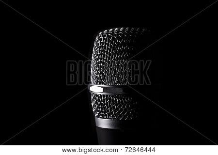 Wireless Microphone On Black Background